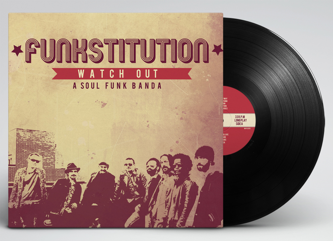 Portada del Vinilo Funkstitution diseñado por la Mottora para watch out